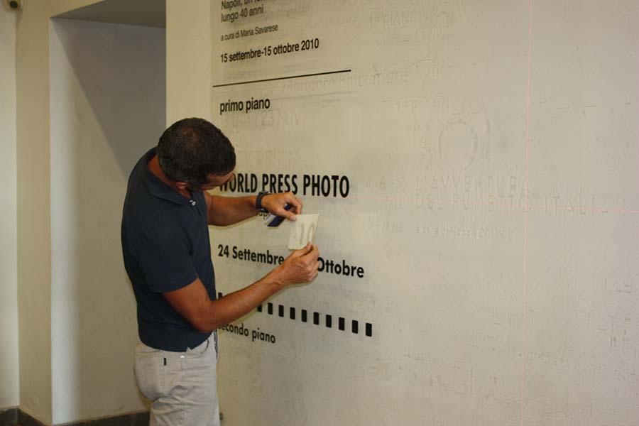 Preparazione World Press Photo Napoli 2010 al PAN